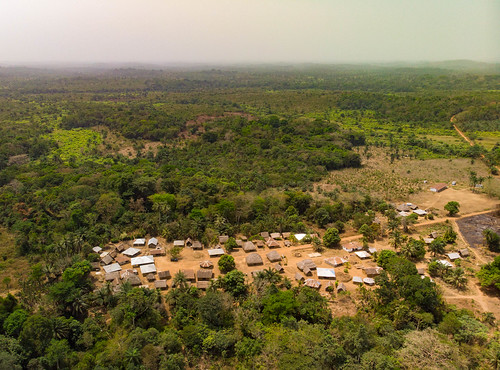 Rural village in Sierra Leone