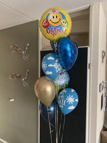Ballonboeket Get Well Beterschap