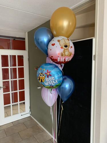 Ballonboeket Hugs Bee Well Beterschap