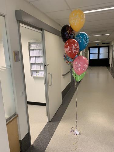 Ballonboeket Thank You Bedankt Spijkenisse Medisch Centrum Ruwaard van Putten Ziekenhuis