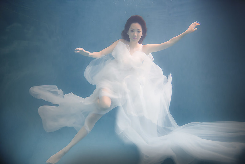 水中攝影,婚紗概念