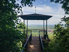 """Aussichtsplattform """"Schöner Punkt"""" auf dem Weg zur Rietburg, Deutschland"""