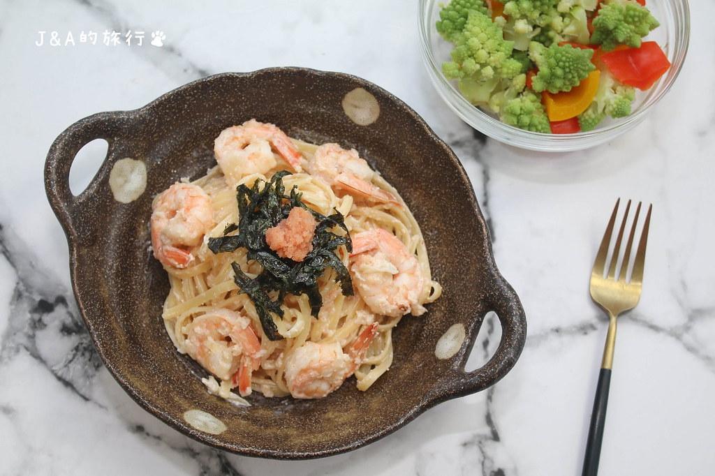 【食譜】鮮蝦明太子義大利麵 在家就能輕鬆品嚐明太子義大利麵 @J&A的旅行