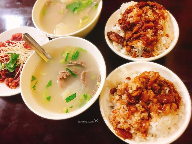 【台北美食】中山區小吃|胡記通化街米粉湯、滷肉飯|林森三店 @GINA環球旅行生活|不會韓文也可以去韓國 🇹🇼