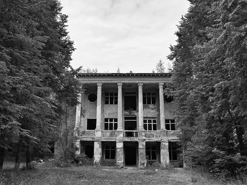 abandoned building in the forest ©  Sergei F