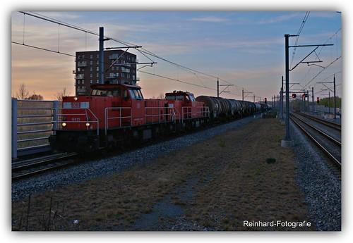 DB-Cargo 6411+DB-Cargo 6428 Lelystad-Centrum (NL)