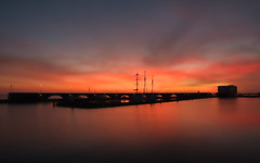 Sunset Lelystad Bataviahaven