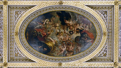 Sir Peter Paul Rubens, The Apotheosis of James I, ceiling of the Banqueting House, Whitehall, c. 1632–34, oil on canvas