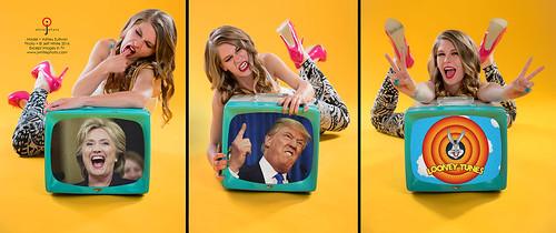 Hillary Clinton - Donald Trump - Bugs Bunny - For President