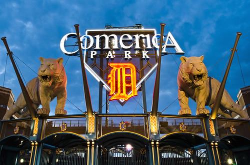 photo of comerica park in detroit michigan