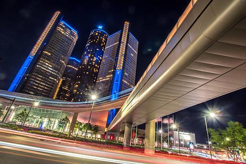Downtown Detroit, Michigan Night Shot Renaissance Center Jwhitephoto