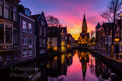 """Sunset behind the Waagtoren in Alkmaar • <a style=""""font-size:0.8em;"""" href=""""http://www.flickr.com/photos/125767964@N08/49781694892/"""" target=""""_blank"""">View on Flickr</a>"""