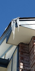 April 14, 2020 - Icicles hanging precariously.