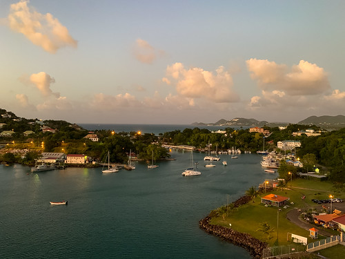 Dusk in Castries