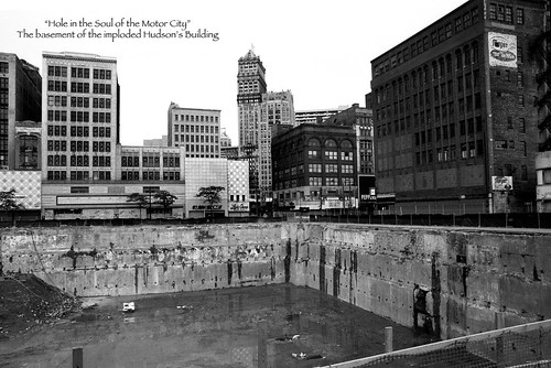 hole in the soul of detroit/old hudson building site