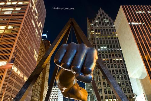 photo of detroit joe louis fist