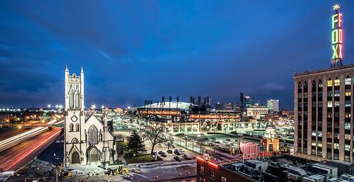 photos of detroit michigan buildings sports arenas