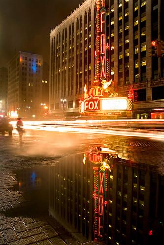 photo of detroit michigan fox theatre