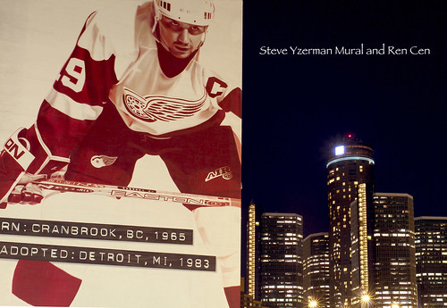 photo of detroit steve yzerman red wings