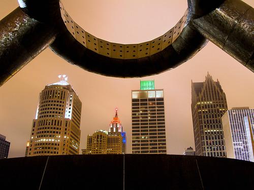 photo of detroit michigan Hart Plaza, Detroit, MI