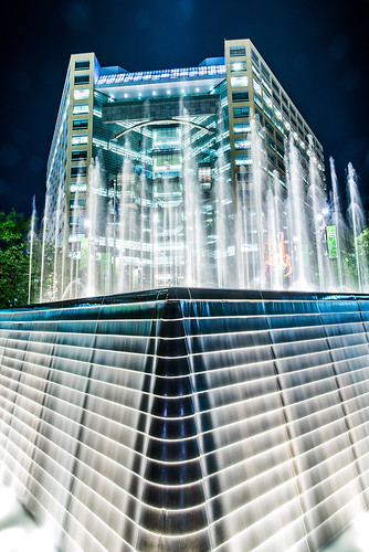 Downtown Detroit, Michigan Night Shot Compuware Building Campus Martius Park Jwhitephoto