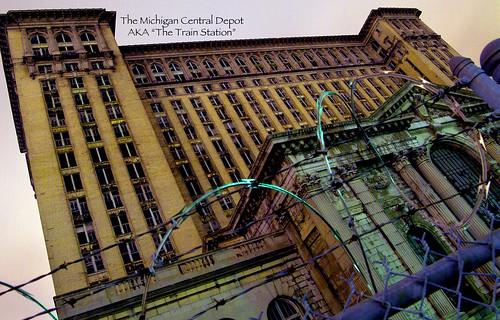 photo of detroit train station Michigan Central Depot