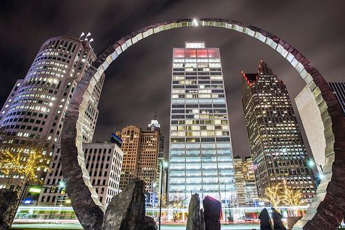 photo of detroit buildings