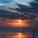 Sundown at Seminyak beach