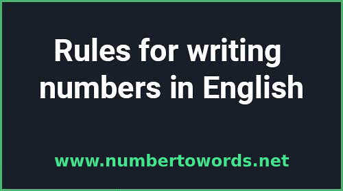 Numbers In English image