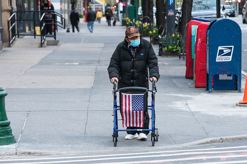 Man Displays American Flag On His Walker, From FlickrPhotos