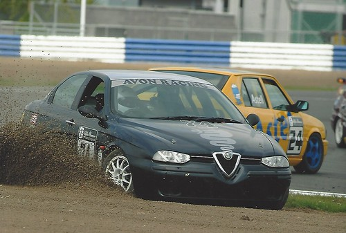 Andy Inman off track at Silverstone