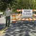 State Parks Ranger stops traffic