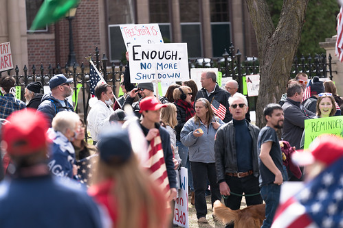 Liberate Minnesota protest at the Govern by Lorie Shaull, on Flickr