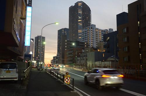 Tsunashima-kaido Bridge across JR Nanbu Line in 2018 December: 4
