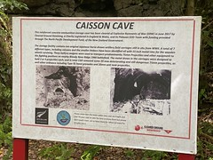 Sign describing the Japanese caisson cave on Peleliu