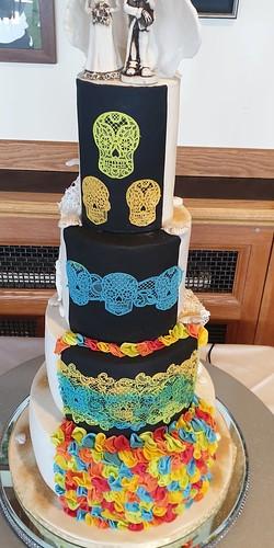 the back of rias cake