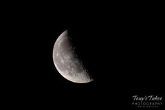 April 15, 2020 - A beautiful waning gibbous moon. (Tony's Takes)