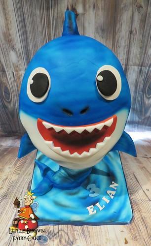 a 3D baby shark