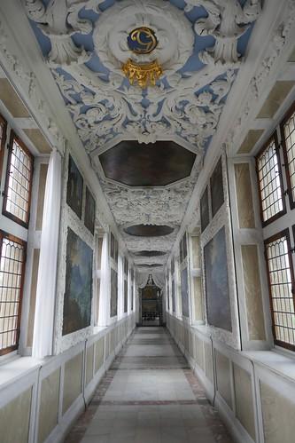 Passage privé menant à la Chambre des Audiences, 1681, château de Frederiksborg (XVIe-XVIIe), Hillerød, Sélande, Danemark