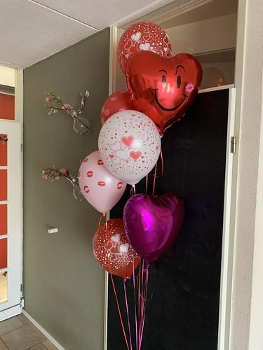 Ballonboeket Liefde Valentijnsdag Kussen