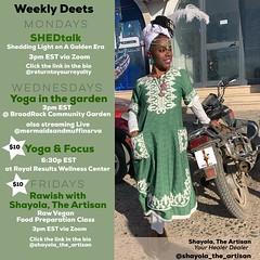 Wednesday's!! Yoga in the garden is back! With @mermaidsandmuffinsrva , join live with @shayola_the_artisan WEDNESDAY AT 3pm. #yogainthegarden#broadrockcommunitygarden#yogi#yogaforthepeople#foodgrowshere#communitylove#southside#southofthejames#8thdistrict