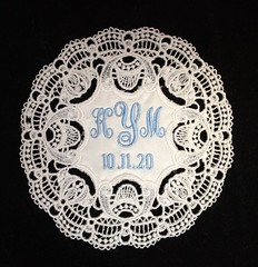 Custom Embroidered Wedding Gown Label