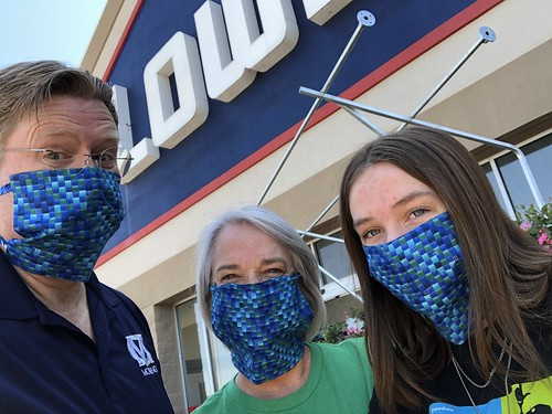 Ready to shop at Lowes with our COVID-19 Masks by Wesley Fryer, on Flickr