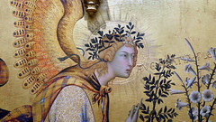Simone Martini, Annunciation, detail with Gabriel