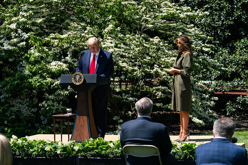 President Trump and The First Lady Plant by The White House, on Flickr