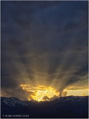 Coucher de soleil sur La Toussuire