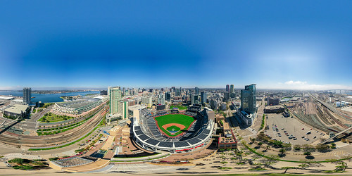 360 view over Petco Park, San Diego