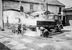 Photo of Steam cleaning the truck