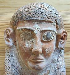 Masque féminin punique (Musée du Bardo, Tunis)