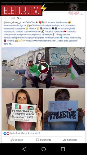 @team_skate_gaza #BellaCiao 🇵🇸❤? #canzone #resistenza ✊ #internazionale #gaza ✌pel'#italia #solidarietà #influenza #coronavirus #sarscov2  #palestina ✌ #libera ✌ 🎥#elettritv💻📲  #musicaoriginale #sottosuolo #webtv